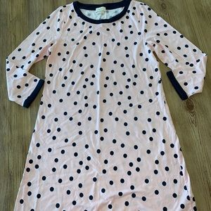 Euc Kate Spade sleep shirt gown medium pink navy
